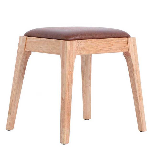 Toaletka z drewnianą nogą wyściełany toaletka do makijażu krzesło fortepianowe w sypialni toaletka łazienkowa do makijażu tanie tanio CN (pochodzenie) Meble do salonu Domu stołek i ottoman Meble do domu