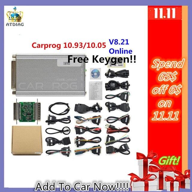 OBD OBD2 Carprog V10.0.5/V8.21 автомобильный Prog ECU Чип Tunning инструмент для ремонта автомобиля Carprog со всеми адаптерами pk iprog