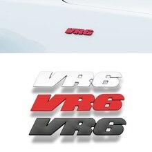 1 pçs liga de metal vr6 carro adesivo emblema emblema emblema emblema emblema etiqueta do automóvel