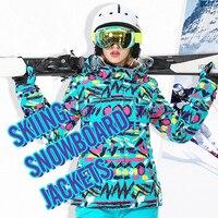 2019 New Winter Ski Jacket Women Windproof Waterproof Snowboard Windbreaker Climbing Snow Skiing Female Camping Hiking Hoodies