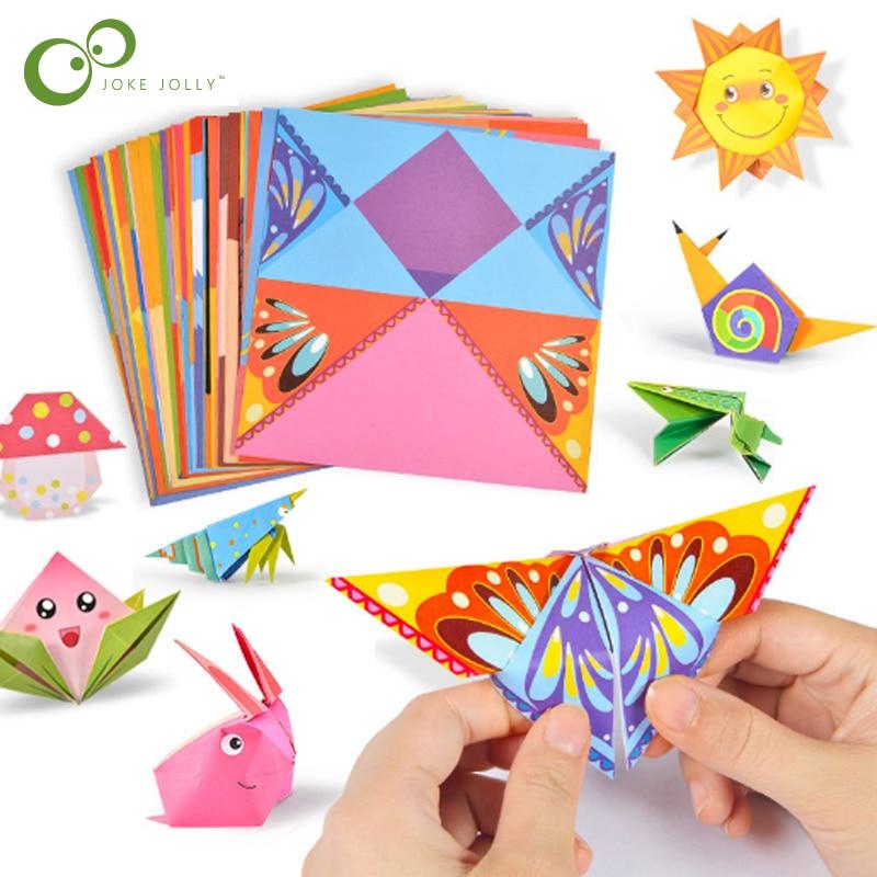 Kreative Spaß Material DIY Machen Origami Spielzeug kinder Handgemachte Origami 3D Handgemachte Farbe Spaß Origami Pädagogisches Spielzeug LXX