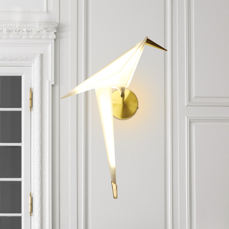 Modern Led Wall Light Gold White Bird Sconce Nordic Wall Lamps for Living Room Bedroom Loft Bedside Corridor Dining Room 90 260V in LED Indoor Wall Lamps from Lights Lighting