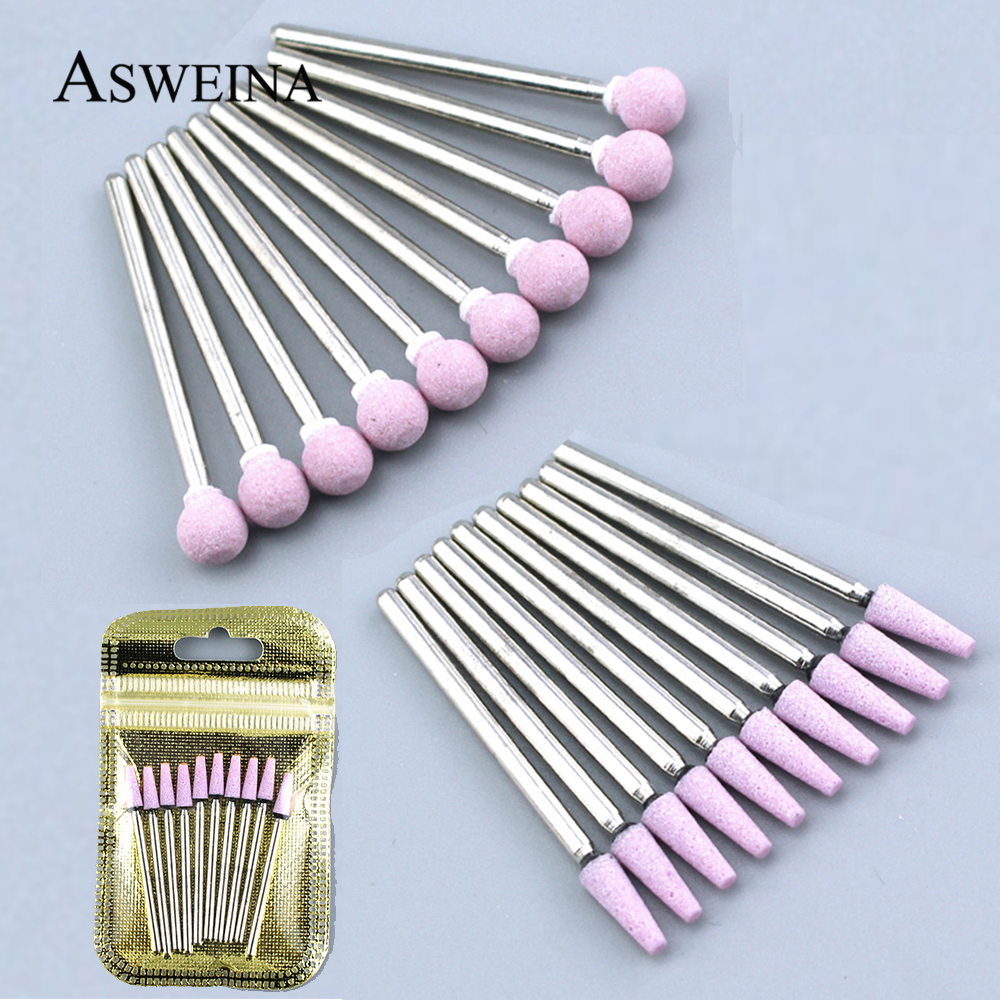 10pcs Nail Drill Bit Set Milling Cutter Electric Manicure Drills For Pedicure Machine Burr Nail Art Equipment