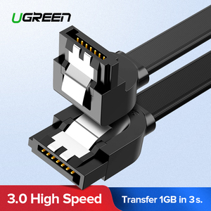 Ugreen SATA Cable 3.0 to Hard Disk Drive SSD HDD Sata 3 Straight Right-angle Cable for Asus MSI Gigabyte Motherboard Cable Sata