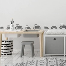 Nursery Kids Room Modern Tractor Car Small Parten Wall Sticker 20pcs Cute Cartoon Farm Decoration For Decals W773