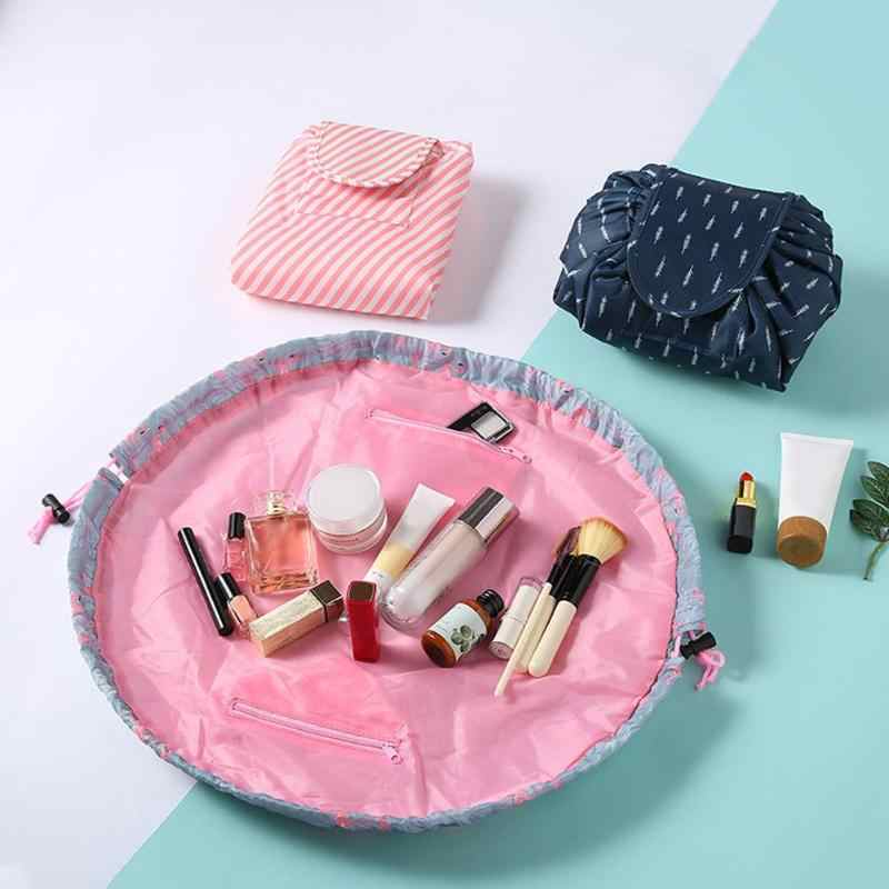 Serut Portable Makeup Tas Terampil Oxford Kain Menolak Memakai Tahan Air Tinggi Kapasitas Penyimpanan Kosmetik Tas Organizer
