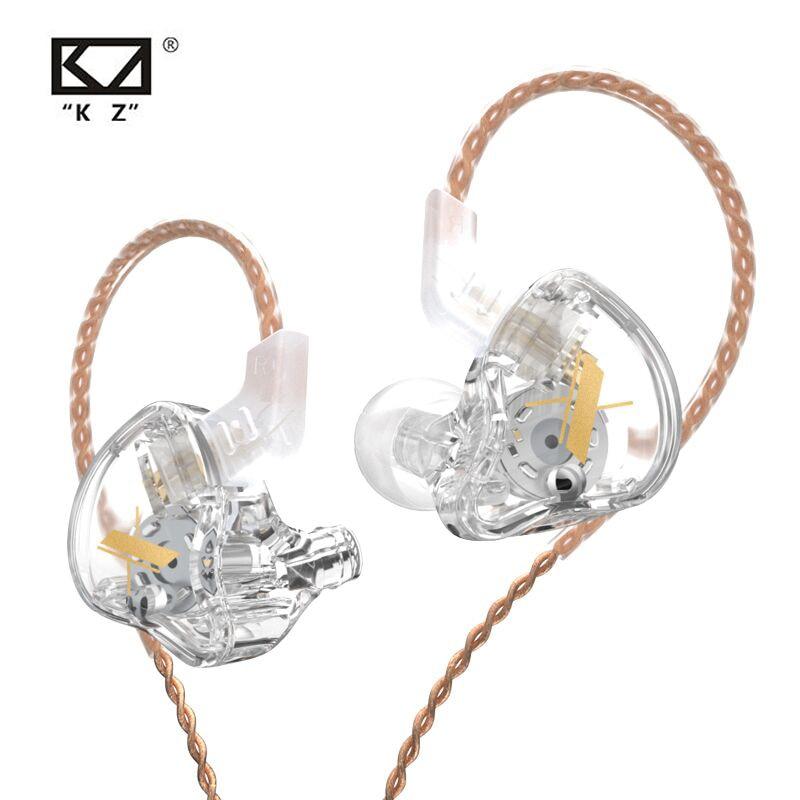 Динамические наушники KZ EDX 1DD, Hi-Fi басовые наушники-вкладыши, наушники-вкладыши, Спортивная гарнитура с шумоподавлением и кристаллами, KZ ZST X ...