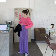 2020 модные летние однотонные женские офисные свободные стройнящие