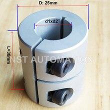 D25 l30 8x8 5x8 impressoras de acoplamento rígido 3d peças parafuso do acoplador do eixo da liga de alumínio para peças de acessórios do motor deslizante