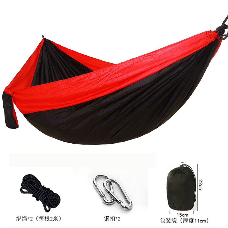 Manufacturers Direct Selling Outdoor Nylon Parachute Cloth Hammock Single Person Double Camping Riding Indoor Casual Swing Hangi