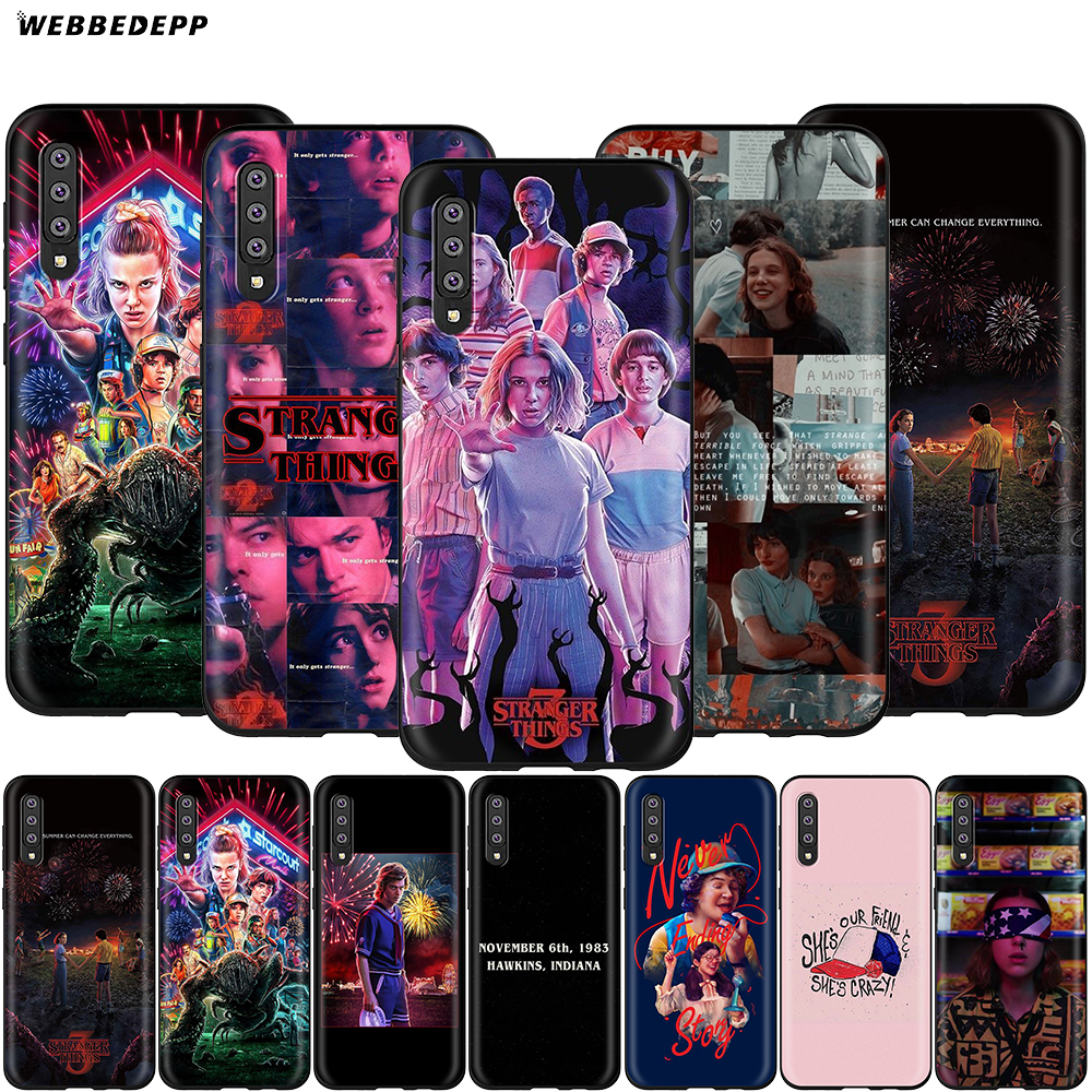Stranger Things Case For Samsung Galaxy A3 A5 A6 Plus A7 A8 A9 J6 M20 A10S A20S A30S A40S A50S