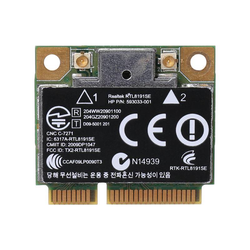 Cartão sem fio wifi 802.11 b/g/n mini 593533-001 593034-001 para hp cq42 g42 g62 g72 4520s 4720s 4325s cq56 rt8191se
