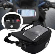Bolsa impermeable para manillar de motocicleta, bolsas de parabrisas para teléfono móvil, pantalla táctil, auricular, para Vespa gts300 tmax 560