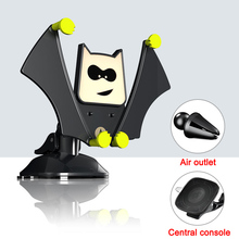 цена на Cool Bat Phone Car Holder Air Vent Mount Rotation Cellphone Holder Stand for iPhone/Xiaomi/Samsung Dashboard Holder in Car