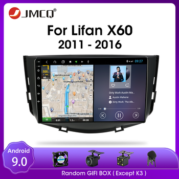 JMCQ Android 9.0 RDS DSP For Lifan X60 2011-2016 Car Radio Multimidia Video 2din T9 4G+64G GPS Navigaion Split Screen with Frame