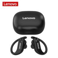 Lenovo-auriculares inalámbricos LP7 con TWS, cascos con Bluetooth IPX5, impermeables, estéreo de graves, deportivos, batería de larga duración con micrófono