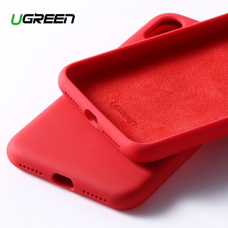 Ugreen Fall Für iPhone X XS XR Fall Schwarz Blau Silikon Rot Für Apple 1:1 Original iPhone X XS Fall