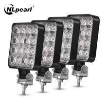 цена на Nlpearl 42W 48W Round LED Fog Light for Car Jeep SUV 4WD 4x4 BUS Truck ATV Spot LED Work Light Bar Offroad Daytime Running Light