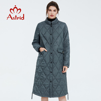 Astrid 2020 Spring Women Parka Coat Warm Jacket Women Thin Cotton Quilted Coat Standing Collar New Collection big size ZM 7214
