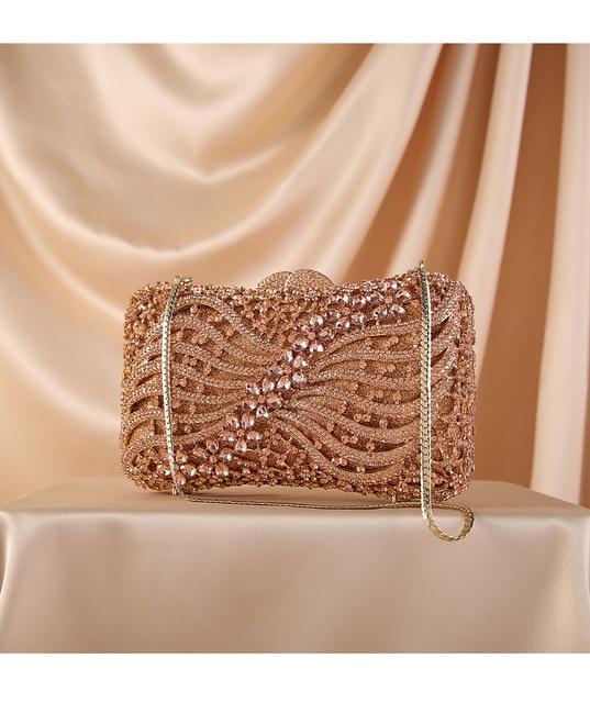 Silver Gold Black Crystal Diamond Beading clutch  4