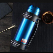 Large Capacity 2L Insulation Pot 304 Stainless Steel Thermos Airless Bottle Travel Car Soup Coffee Cup Thermos Water Bottle