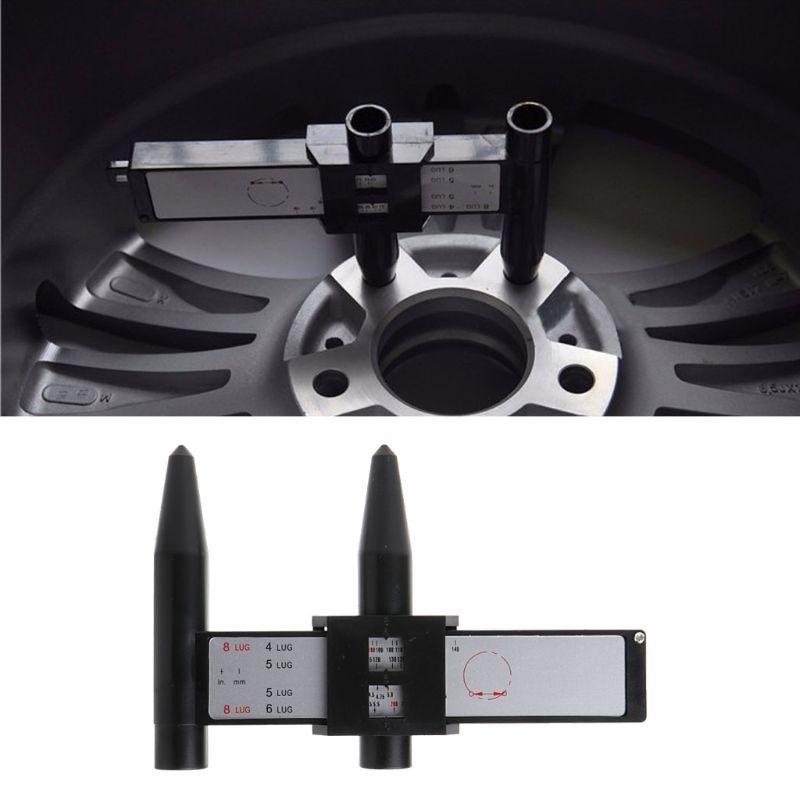 4 5 6 8 Holes Lug Wheel Bolt Pattern Gauge Quick Measuring Measurement Hand Tool W15