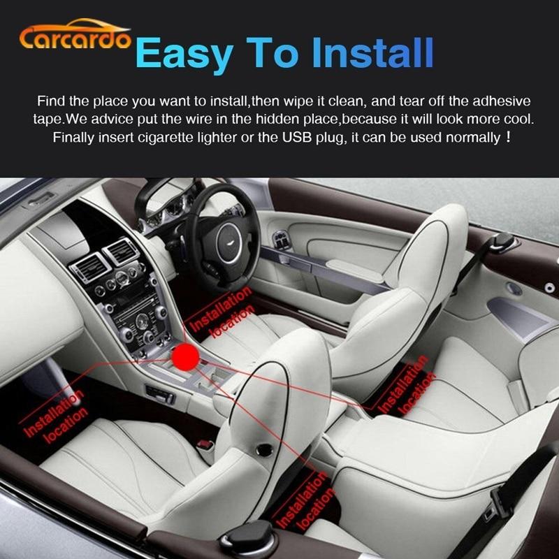 Carcardo LED Atmosferë të Lehta Styling Car RGB Llamba Atmosfera - Dritat e makinave - Foto 4