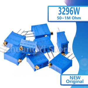10pcs 3296X 3296 50 100 200 500 ohm 1K 2K 5K 10K 20K 50K 100K 200K 500K 1M ohm 103 100R 200R 500R Trimpot Trimmer Potentiometer
