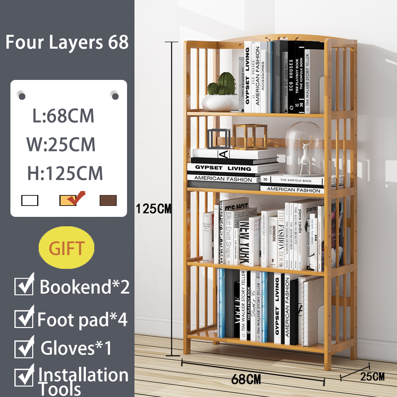 Solid Wood Bookshelf Storage Shelve For Children Book Rack Bookcase Living Room Shelves Kitchen Storage Books Magazine Organizer