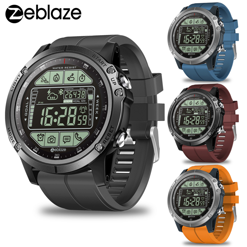 2019 Upgrade Zeblaze VIBE 3 S 3S Rugged Outdoor Smart Watch 50M Waterproof 5ATM Smartwatch Real time Weather Fitness Tracker Men-in Smart Watches from Consumer Electronics