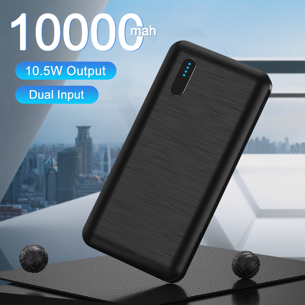 LED Display 10000mAh Powerbank Portable Charger Quick External Battery Power Bank For iPhone Xiaomi Mi 9