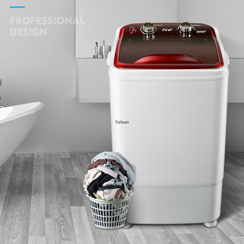 6kg Single Barrel Semi-automatic  Mini Washing Machine UV Sterilization  Portable Washing Machine  Washing Machine