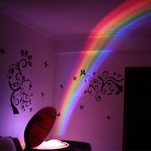 цена на 3 Modes RGB LED Lamp Egg Shaped Rainbow Projector Light Colorful Led Creative Night Light Romantic Magic Children Bedroom Decor