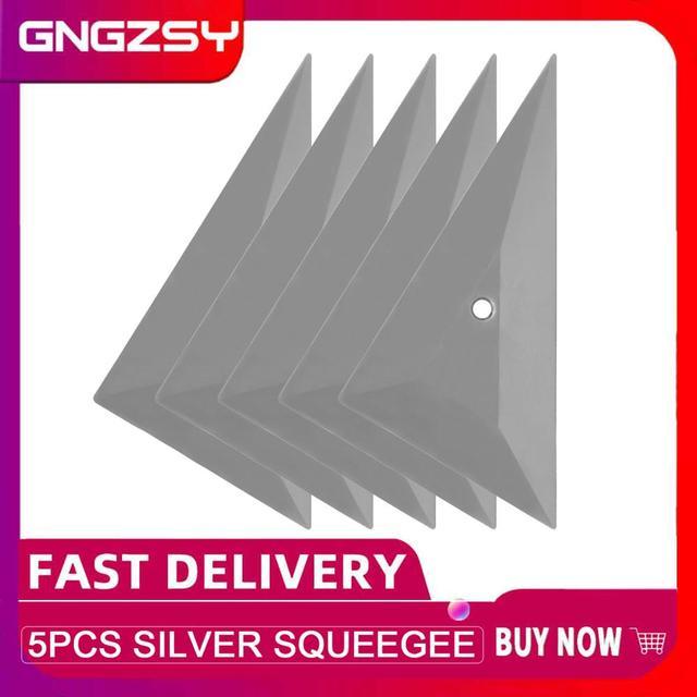 5 個箔スキージビニールフィルム車ラップ自動車内務省カーフィルムインストールクリーニングシルバースクレーパー窓色合いツール 5A73