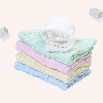 Pure Cotton Infant Face Hand Bath Saliva Towel  Baby Bibs Handkerchief Pure Color Kids Blank Diy Handkerchief