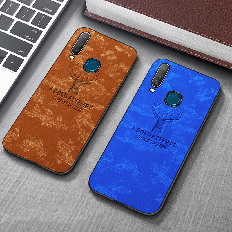SFor <font><b>Vivo</b></font> Y17 Y15 Y12 V11 V11i V15 V17 Pro X21 UD X21i X23 IQOO NEO Nex 3 Z5X Y97 Y93 Y91 Y85 Y83 <font><b>Y69</b></font> Fabric Cloth Deer Covers image