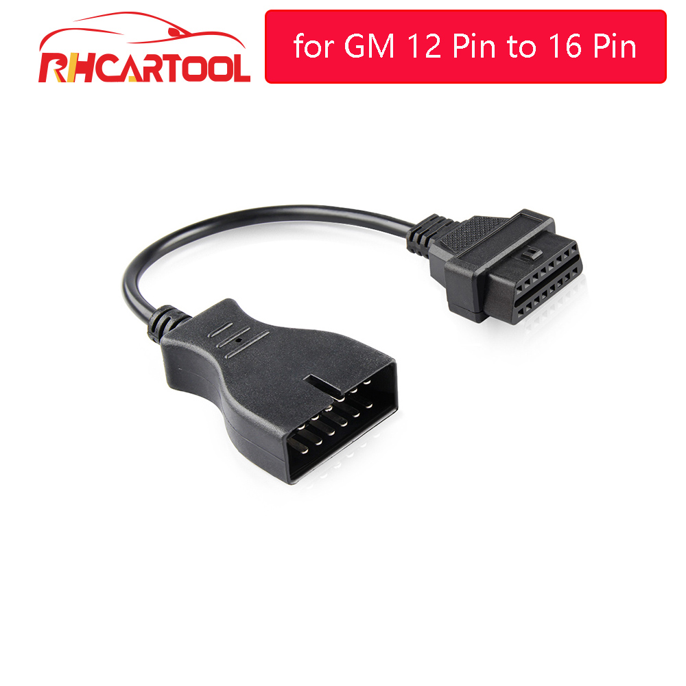 OBD2 Carro 60/100 centímetros cabo de Extensão Adaptador de Conector para GM 12 Pinos para 16 Pin Auto Cabo Diagnóstico Para GM veículos adaptador para Carro