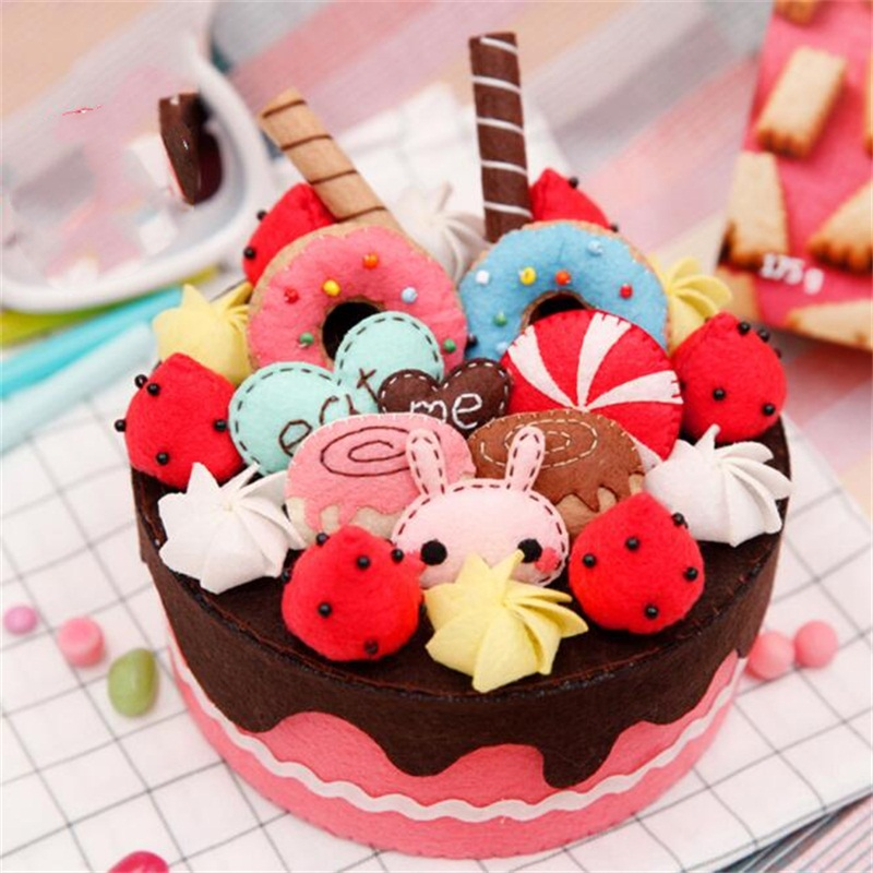 DIY Simulation Cake Learning Education Toys Kids Craft Toys DIY Storage Box Home Decoration Christmas Valentine Gifts