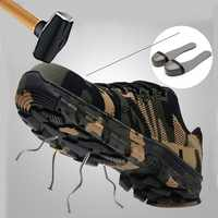 New Work Boots Construction Men's Outdoor Steel Toe Cap Shoes Men Camouflage Puncture Proof High Quality Safety Shoes Plus Size