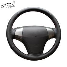 Protector de cuero Artificial para volante de coche, Trenza para Hyundai Elantra 2008-2010, hecho a medida