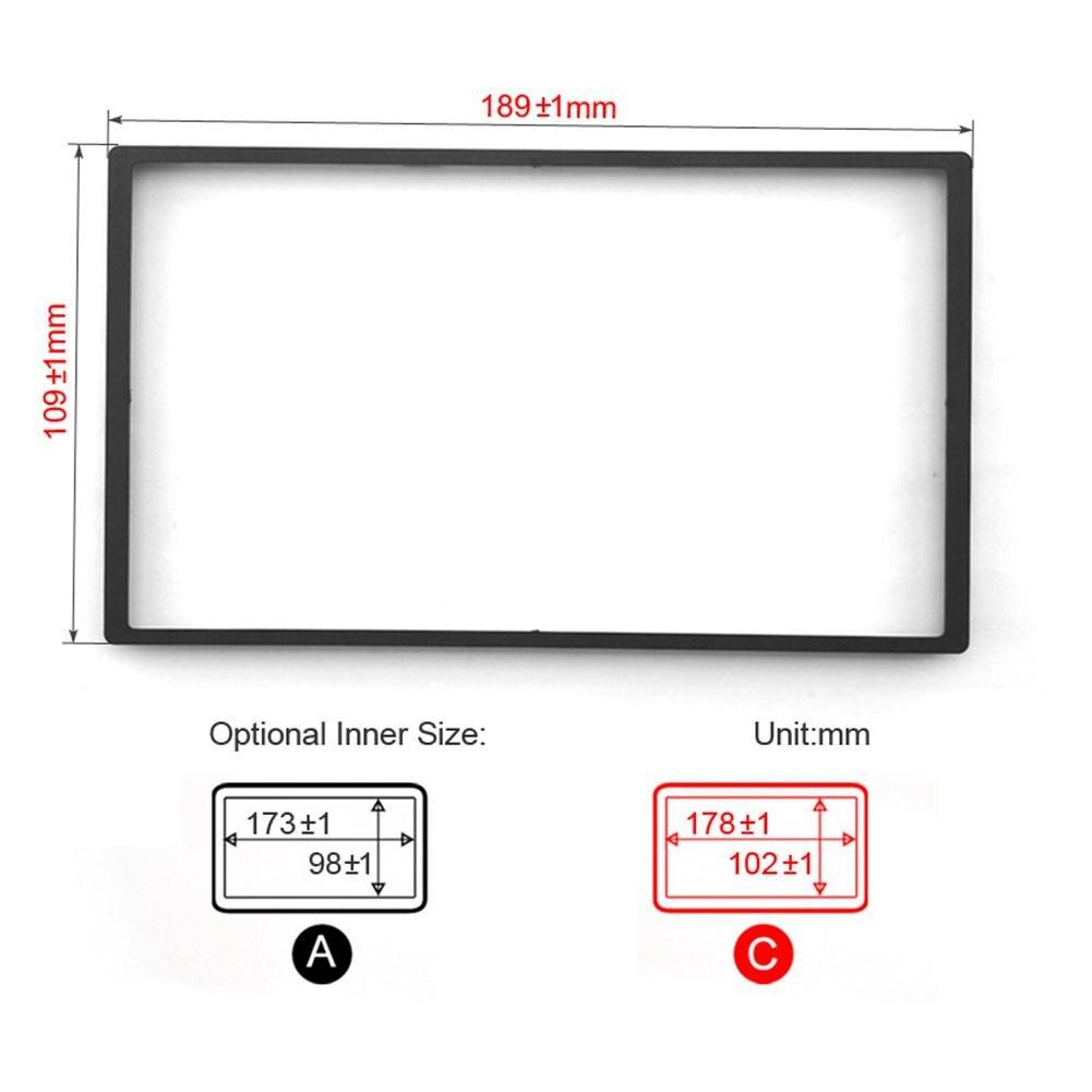 Adeeing Panel Frame Car DVD/CD Radio Stereo Fascia Panel Frame Adaptor Fitting Kit for Honda Fit (Jazz) 1.3L (2007 2013)|Fascias| |  - title=