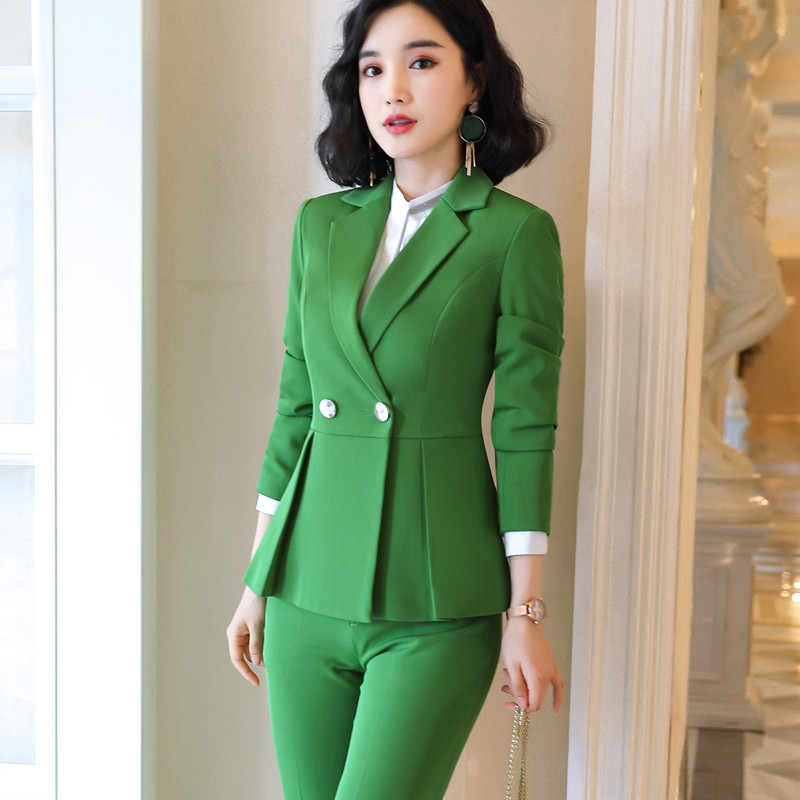 Naviu new arrival high quality women two pieces set pants suit for office lady formal workwear winter clothing 53