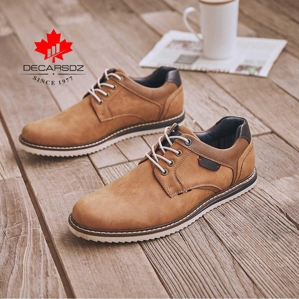 DECARSDZ 2020 Mới Thời Trang Nam Thu Đông Phối Ren Cao Cấp Thương Hiệu Thoải Mái Phong Cách Công Sở Ngoài Trời Đi Bộ Giày Casual Nam Man giày