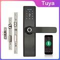 Wifi электронный дверной замок с мобильным телефоном Tuya APP отпечаток пальца 13 56 МГц IC карта Пароль разблокировка без ключа интеллектуальный з...