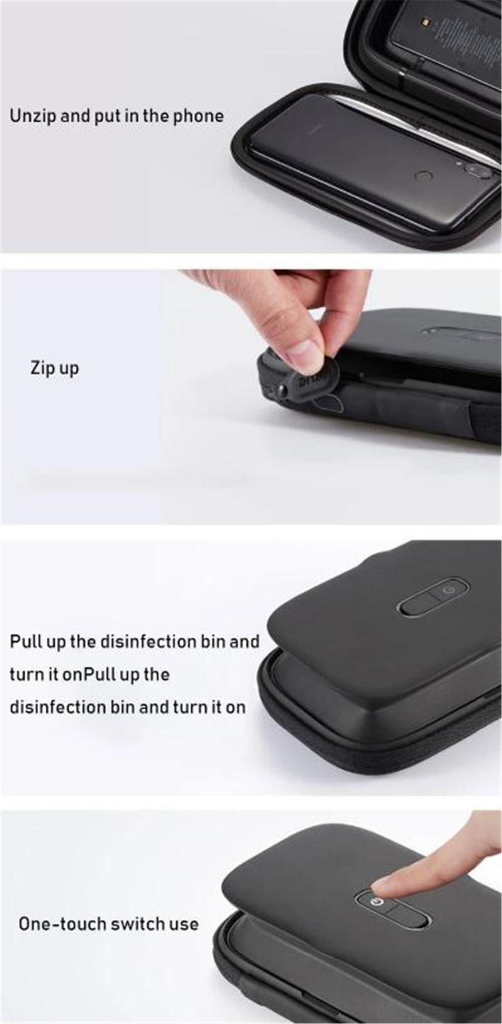 Xiaomi EUE Ultraviolet sterilization package for mobile phonessmall item UV Germicidal Portable Sterilization Bag Disinfection (6)