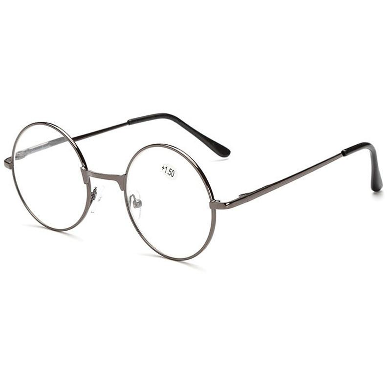 MOLNIYA Retro Round Reading Glasses Women Men Metal Presbyopic Glasses Myopic Lens Eyewear +1.0+1.5+2.0+2.5 +3.0 +3.5 +4.0 Eye Sight Glasses Goggles Home, Pets and Appliances 7fbb8c2a551aaaea0fd30c: +100|+150|+200|+250|+300|+350|+400