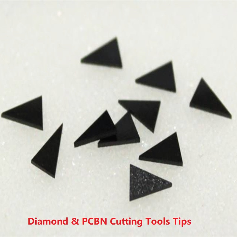 PCD Diamond Segments Turning And Boring Tools Brazed Tips CBN Lathe Cutter Blanks With Tungsten Carbide Body