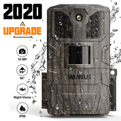 Cámara de caza WIMIUS 16MP 940nm 32 Uds IR Leds 1080P foto Video IP66 impermeable Sensor de movimiento visión nocturna salvaje trampa cámaras