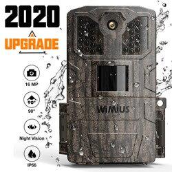 Cámara de caza infrarroja WIMIUS 1080P 16MP 940nm IR Led de visión nocturna detección de movimiento impermeable Wildlife cámara de rastreo para caza