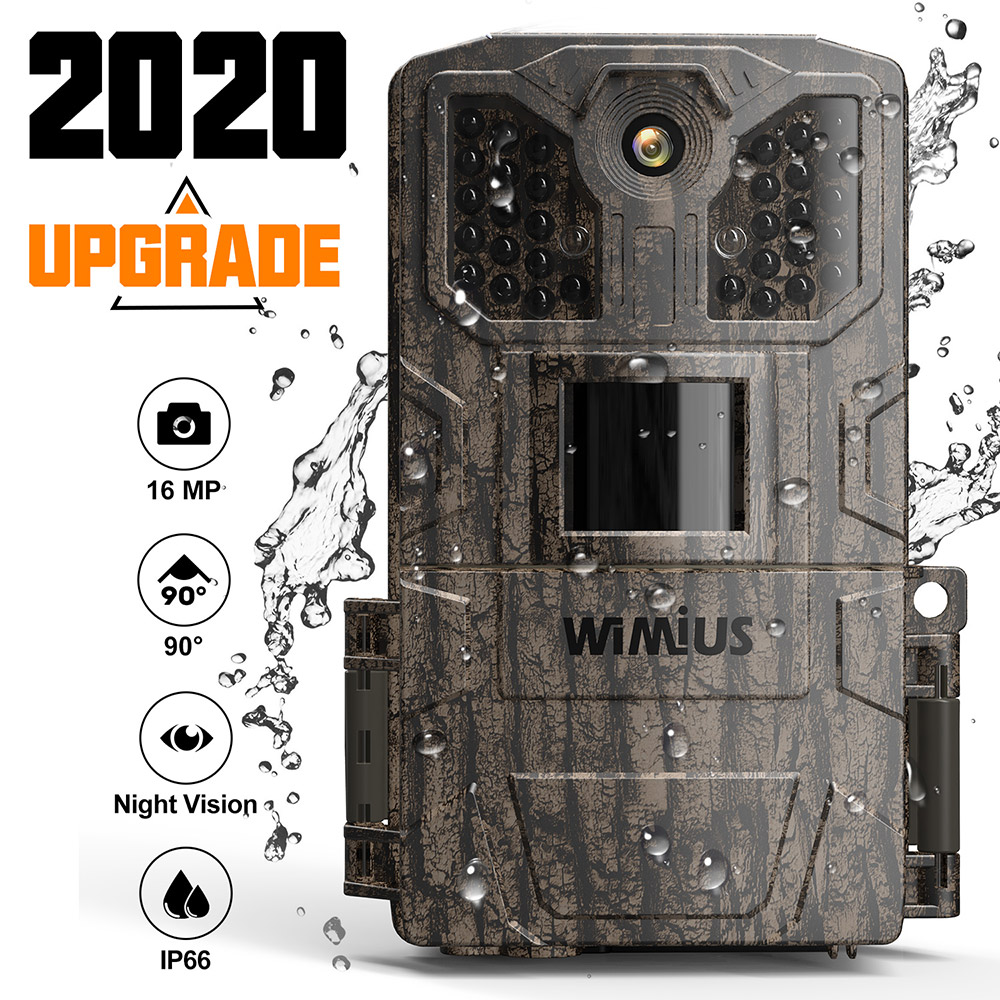 WIMIUS 1080P Hunting Camera 16MP 940nm 32pcs IR Leds IP66 Waterproof Night Vision Motion Detection Wildlife Video Cameras